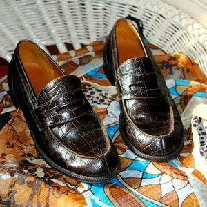 Ralph Lauren Crocodile Penny Loafers Vintage  EUC
